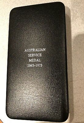 Australian  Service Medal 1945 To 1972 Box Only Original