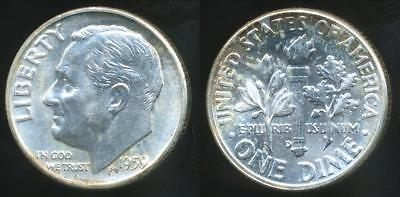 United States, 1959-D Dime, Roosevelt (Silver) - Uncirculated