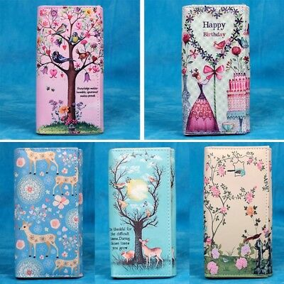 Women Lady Cartoon Long Purse Wallet Clutch Bag Card Holder Handbag Phone Case