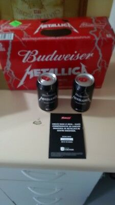 Metallica Beer - Unopened 355Ml - Budweiser Special Edition New Very Rare