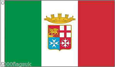Italy Navy Ensign 5'x3' Flag TO CLEAR