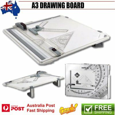 Portable Drafting A3 Drawing Board & Kit Drawing Head, Tilters & Set Square AU