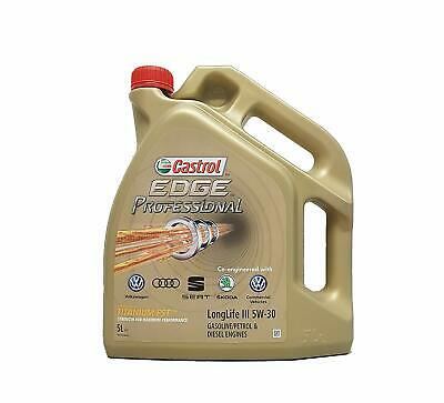 Castrol 5 Litres Edge 5W-30 Long Life Oil Fully Synthetic VW Audi Skoda Seat
