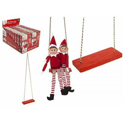 Elf Swing Seat On the Shelf Xmas Christmas Decoration Novelty Elf Accessories