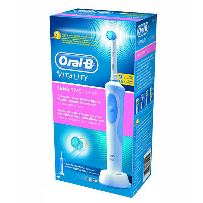 Braun Oral-B Vitality Clean Rechargeable Electric Toothbrush for Sensitive teeth