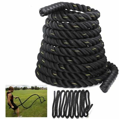 15 Battle Power Rope 38mm Battling Sport Bootcamp Gym  Exercise Fitness Training