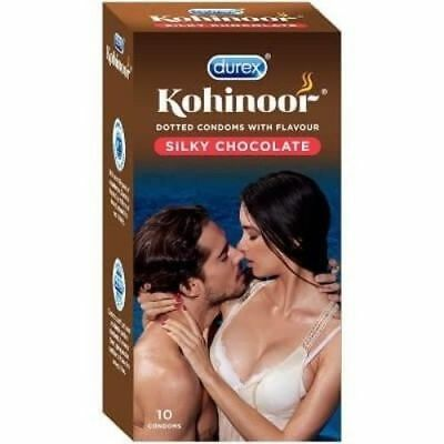 Durex Kohinoor Silky Dotted Chocolate Condoms -10's Pack Free Shipping