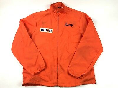 Union 76 Vtg -George- Orange Las Angeles 'Bowler's SHIRT and UNIFORM' M Jacket