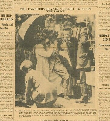 Suffragette Emily Pankhurst Arrested and Jailed Rare Picture  June 5 1913 B23