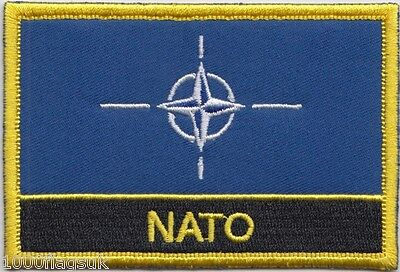 North Atlantic Treaty Organisation NATO Flag Embroidered Patch Sew or Iron on