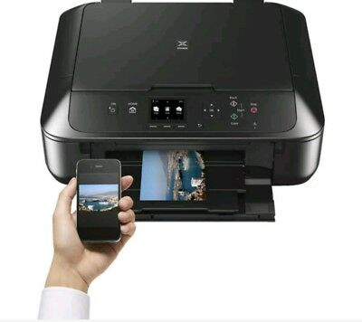 NEW BLACK CANON PIXMA MG5750 All-in-One Wireless Inkjet Printer Apple AirPrint