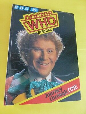 Bbc Tv Special Doctor Who Journey Through Time Issued 1984 Hard Back
