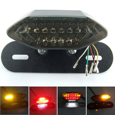 LED Motorcycle Quad ATV Tail Turn Signal Brake License Plate Integrated Light OK