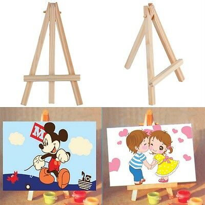 Kids Mini Wooden Easel Artist Art Painting Name Card Stand Display Holder OK