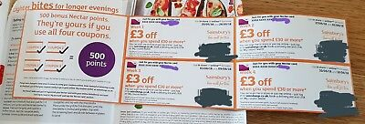 £12 worth of Sainsburys Money off Coupons/Vouchers  - 3 day auction