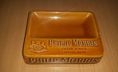 Cendrier Publicitaire. Cigarettes Philips Morris Filter Kings . En Ceramique