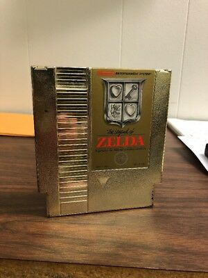 The Legend of Zelda Nintendo NES Video Game Cartridge Only Gold Authentic