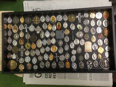 VINTAGE Lot of 100+ Mixed Religious Charms / Medals