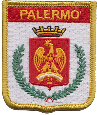 Italy Sicily Palermo City Coat Of Arms Shield Embroidered Patch Badge