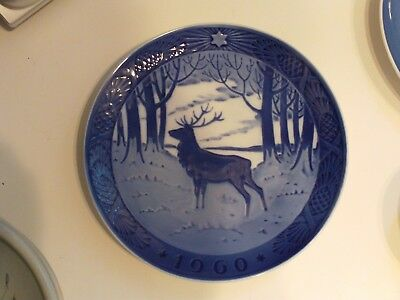 1960 The Stag Royal Copenhagen Denmark Hans H. Hansen Christmas Collector Plate