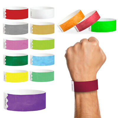 Plain Paper Wristbands Tyvek Security Entry Event Entrance Tickets Wrist Bands