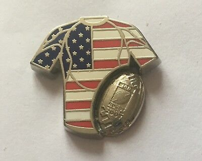 @@@ superbe pin's RUGBY 2007 USA ETATS UNIS IRB WORLD CUP ARTHUS BERTRAND @@@
