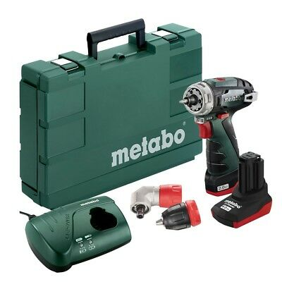 Metabo Powermaxx BS Quick Pro Drill Driver, Quick Chuck Quick, Angle Attachment