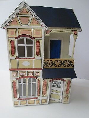 1/48th scale hand made doll house in the style of Moritz Gottschalk