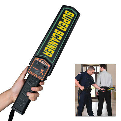 Hand-held Portable Metal Security Detector Super Scanner Wand Airport Scanner US