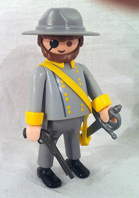 Playmobil Custom Südstaatler General Yankee Civil War Amerika dick Nord RAR
