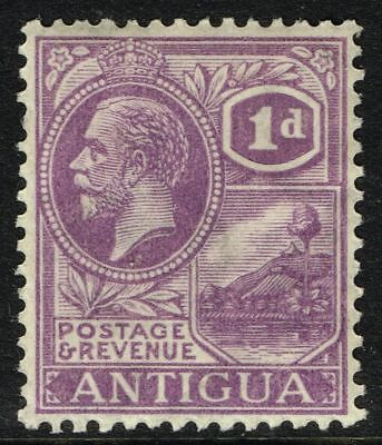SG 64 ANTIGUA 1923 – 1d BRIGHT VIOLET – MOUNTED MINT
