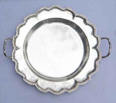 Antique Silver Spanish Colonial Charger, Historical US Provenance