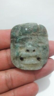 Pre-Columbian Olmec Jade pendant from Mexico. 400 bc.