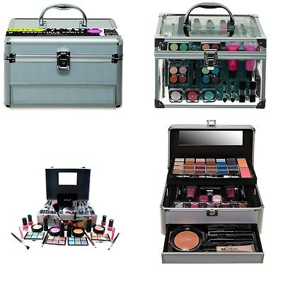 Technic Girls Cosmetic Large Travel Vanity Beauty Make Up Case Box Gift Set NEW