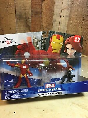 Brand New Disney Infinity 2.0 Avengers Figure Set Iron Man, Black Widow, Crystal