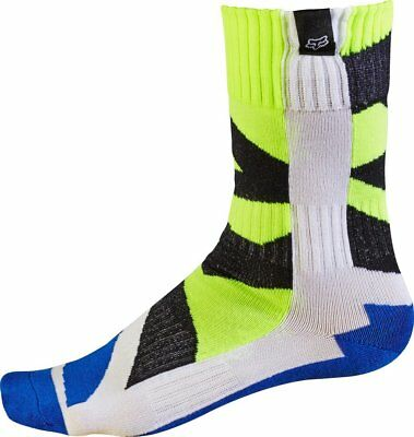 FOX CREO YOUTH MX Motocross Socks - White & Yellow