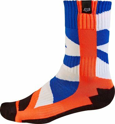 FOX CREO YOUTH MX Motocross Socks - Blue Orange & White