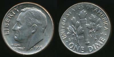 United States, 1965 Dime, Roosevelt - Uncirculated