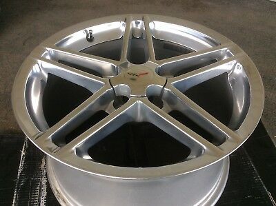One Front Factory Oem Polished Corvette Zo6 Wheel