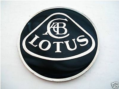Enamel Chrome and Black LOTUS NOSE BADGE Elise Exige 7 Jim Clark
