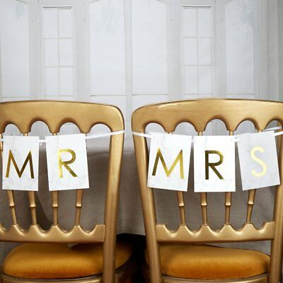 """Neviti–Scripted marmo–""""Mr & Mrs Chair Bunting"""