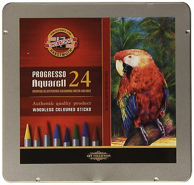 KOH-I-NOOR Progresso Woodless Aquarell Coloured Pencil Set Set of 24