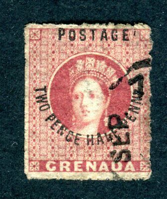 Grenada 1881 QV. 2 1/2d rose lake. Used. Large star. SG 22.