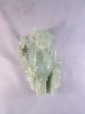 Antique carved Asian jade figure Buddha