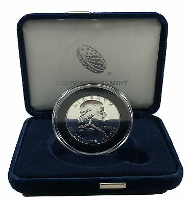 1963 Franklin Silver Half Dollar, GEM Proof in New Air-Tite Capsule & Deluxe Box