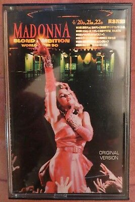 Madonna: Blond Ambition Tour 90,live In Japan (Cassete) Very Rare !!!!!