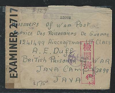 Indonesia (P2409B) Incoming  Prisoner Of War Java Camp 1944  From England
