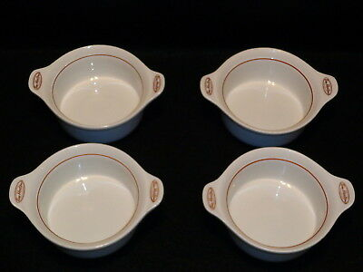 """Steelite TIM HORTONS 6 1/2"""" ONION SOUP BOWLS Lot x 4 Made In England Exc. Con"""