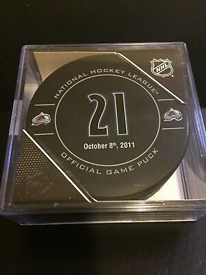 Colorado Avalanche Forsberg Puck #21 Retirement Oct. 8Th, 2011 Limited Edition