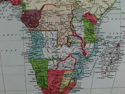 Africa European colonial possessions claims disputes British Dutch 1888 old map
